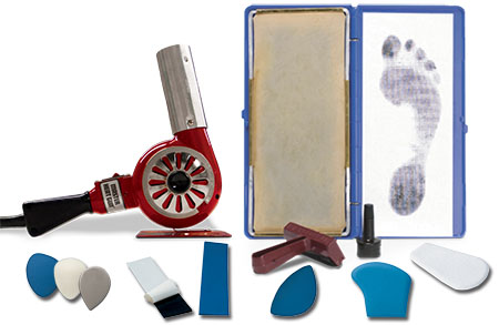 Accessories for working on orthotics