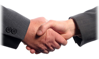 Shaking hands is a gesture of openness and honesty