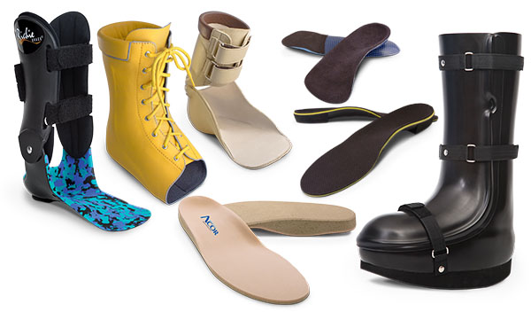 a small sampling of custom footwear available from Acor