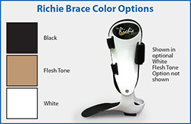 Custom Richie Brace color options