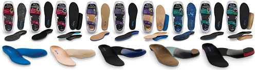 a small sampling of orthotics available from Acor